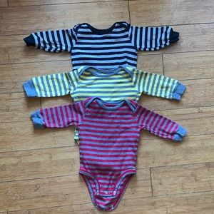 3 Striped Carter's Onesies